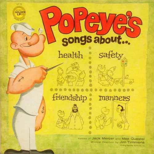 Popeye – Songs about health safety friendship manners